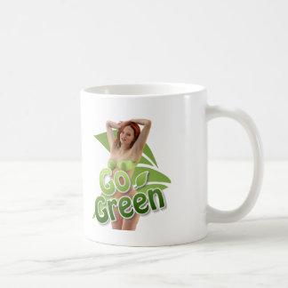 Go Green Girl Belle Basic White Mug
