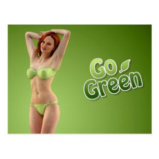 Go Green Girl Belle Postcard