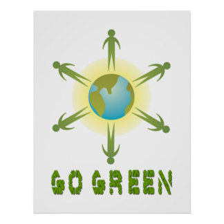 GO GREEN GLOBAL POSTER