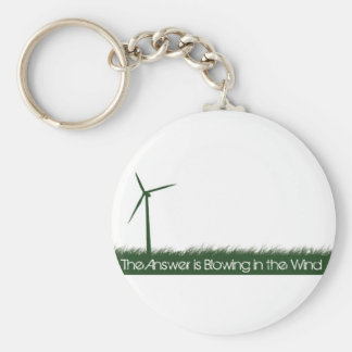 Go Green, Go Clean, Go Renewable Basic Round Button Key Ring