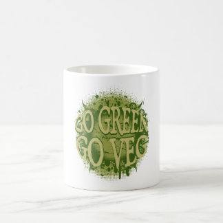 Go Green, Go Veg Coffee Mugs