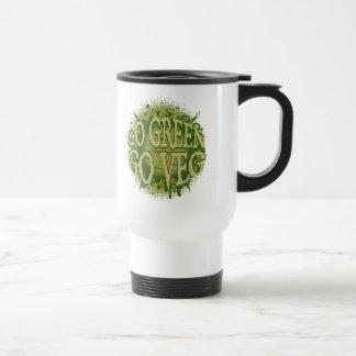 Go Green, Go Veg Stainless Steel Travel Mug