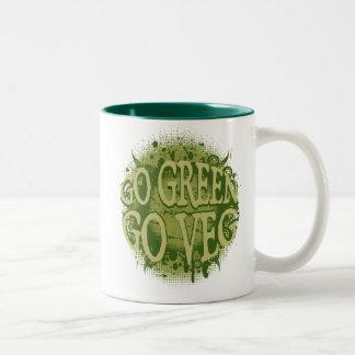 Go Green, Go Veg Two-Tone Mug