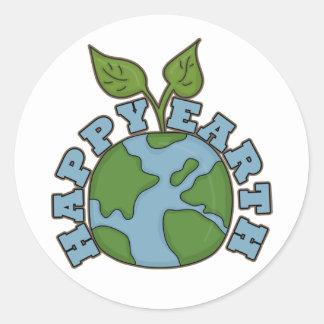 Go Green Happy Earth World Sticker Seals