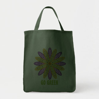 Go Green Kaleidoscope Floral Grocery Bag