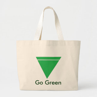 Go Green Large Tote Canvas Bags