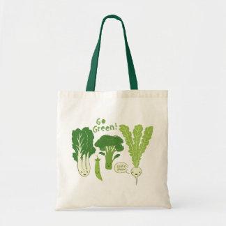 Go Green! (Leafy Green!) Happy Garden Veggies Tote Bag