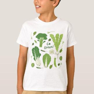 Go Green! (Leafy Green!) Happy Veggie Friends T-Shirt