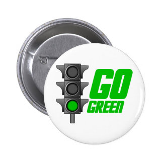 Go Green Light 6 Cm Round Badge