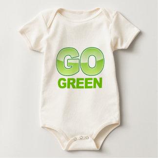 Go Green Logo Baby Bodysuit