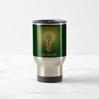 GO GREEN 15 OZ STAINLESS STEEL TRAVEL MUG