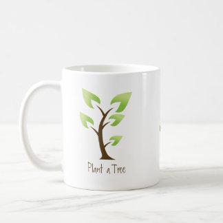 Go Green.  Plant a Tree. Save the Planet Basic White Mug