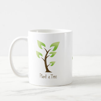 Go Green Plant a Tree Save the Planet Coffee Mugs