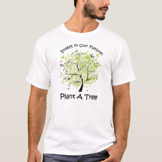 Go Green Plant A Tree Typography T-Shirt