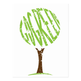 Go Green Postcard, tree shape Postcard