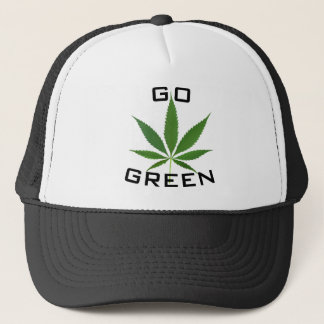 Go Green Pot Leaf Hat