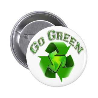 Go Green-Recycel Earthlings Buttons