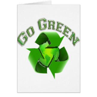 Go Green-Recycel Earthlings Greeting Card