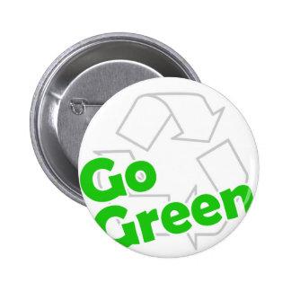 go green recycle 6 cm round badge