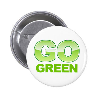 Go Green Recycle Gradient Pinback Button