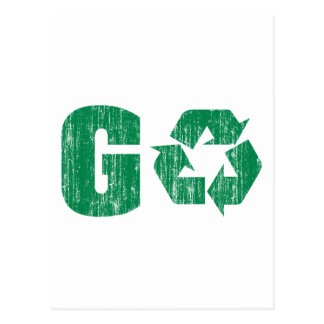 Go Green Recycle Postcard