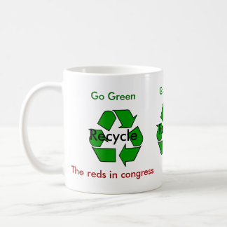 Go Green - Recycle the Reds in Congress Basic White Mug