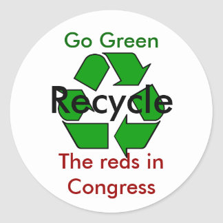 Go Green - Recycle the Reds in Congress Sticker