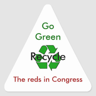Go Green - Recycle the Reds in Congress Triangle Sticker