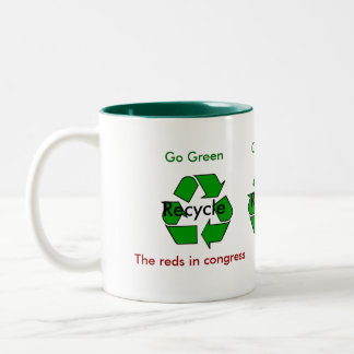 Go Green - Recycle the Reds in Congress Two-Tone Mug