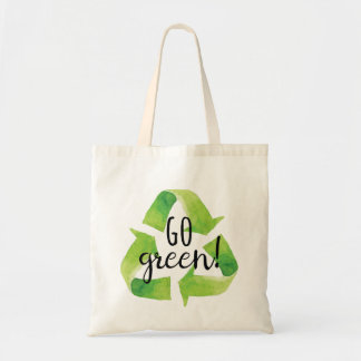 Go Green Recycle Tote Bag