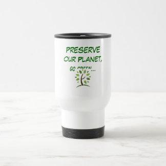 Go Green... Stainless Steel Travel Mug