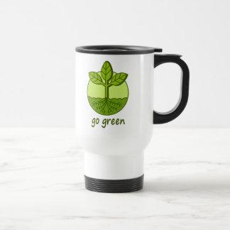 Go Green Stainless Steel Travel Mug
