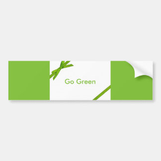 Go Green Sticker Bumper Sticker