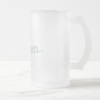go green tall mug