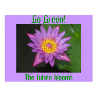 Go Green! The future blooms Postcard