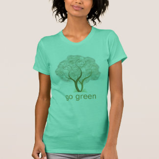 Go Green Tree Graphic T-Shirt