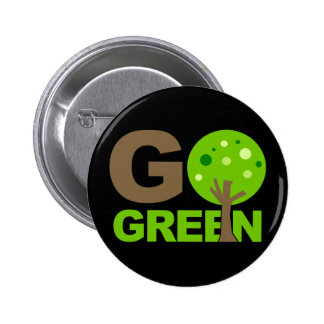 Go Green Tree Recycle Buttons