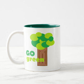 Go Green Two-Tone Mug