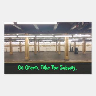 Go Green Use public transit Rectangular Sticker
