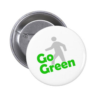 go green walk 6 cm round badge