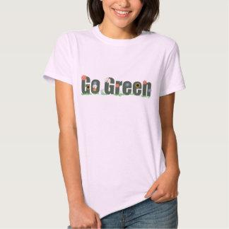 go green wflowers tshirt