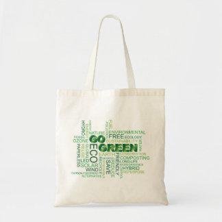 Go Green Word Cloud Bag