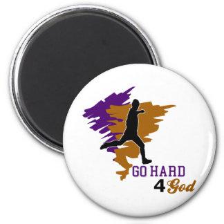 Go Hard 4 God 6 Cm Round Magnet