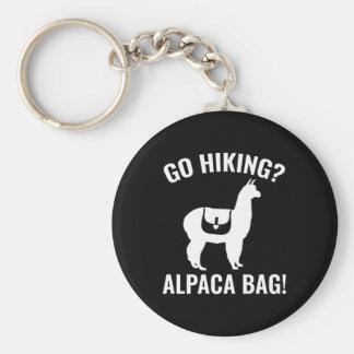 Go Hiking? Alpaca Bag! Basic Round Button Key Ring