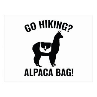 Go Hiking? Alpaca Bag! Postcard