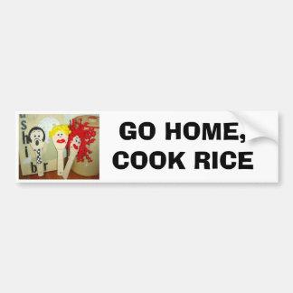 GO HOME, COOK RICE BUMPER STICKER