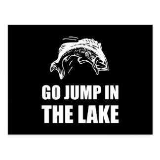 Go Jump In Lake White.png Postcard