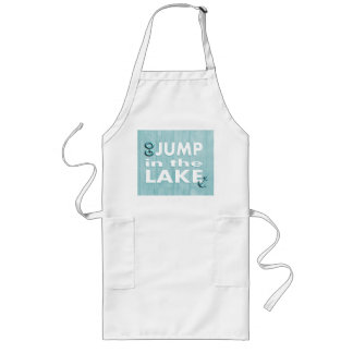 Go Jump In The Lake Beach Theme Kitchen Apron