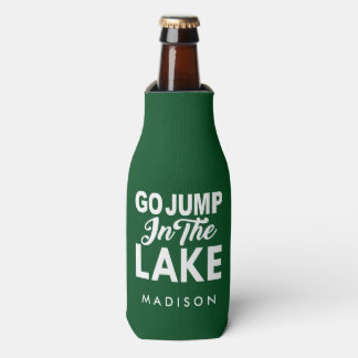 Go Jump In The Lake Bottle Cooler