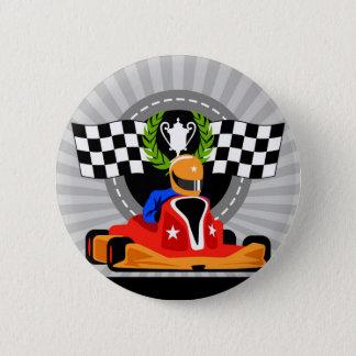 Go Kart birthday favor gift 6 Cm Round Badge
